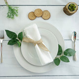 "5 Pack 20x20"" Off White Polyester Linen Napkins"