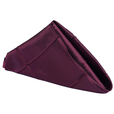 "Pintuck Napkins - 17""x17"" - Burgundy - 5pcs"