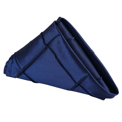 "Pintuck Napkins - 17""x17"" - Navy Blue - 5pcs"