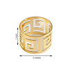 4 Pack Gold Plated Aluminium Alluring Napkin Rings