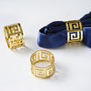 Plated Aluminium Alluring Napkin Rings -  Gold - 4pcs