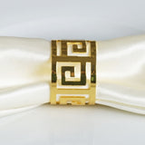 4 PCS Wholesale Gold Plated Aluminium Alluring Napkin Rings For Wedding Birthday Party Tableware