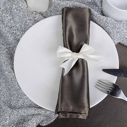 "10 Pack 20""x20"" Charcoal Gray Tuscany-Inspired Napkins"