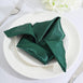 5 Pack - 20x 20 Hunter Emerald Green Satin Linen Napkins
