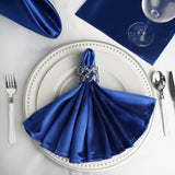 5 PCS Wholesale Royal Blue Satin Napkins For Wedding Birthday Party Tableware - 20x20""