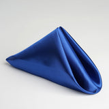 "5 Pack 20""x 20"" Royal Blue Satin Linen Napkins"