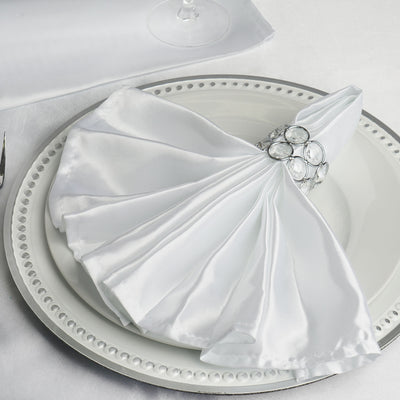 """10 RED Silky SATIN 20x20/"""" Wedding NAPKINS Party Table Linens Catering Supplies"""