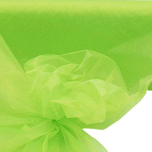 "54""x40 Yards Sheer Organza Fabric Bolt - Tea Green"