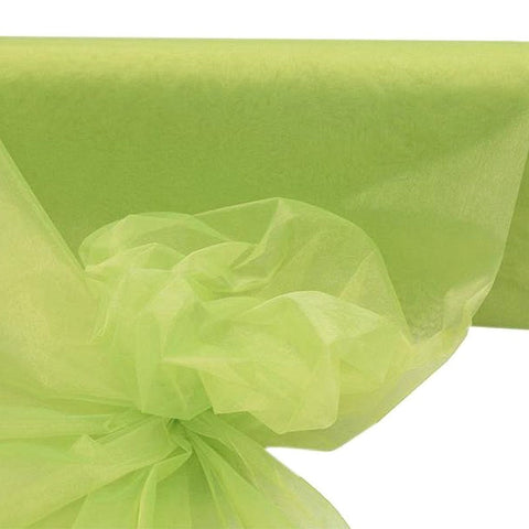 "54""x40yds Crystal Organza Fabric Apple Green"