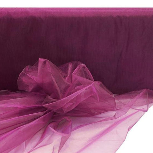 "54""x40 Yards Sheer Organza Fabric Bolt - Eggplant"