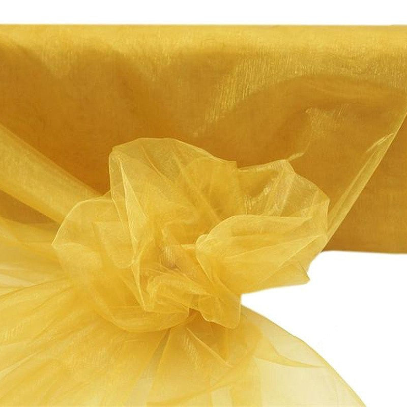 "54""x40yds Crystal Organza Fabric Gold"