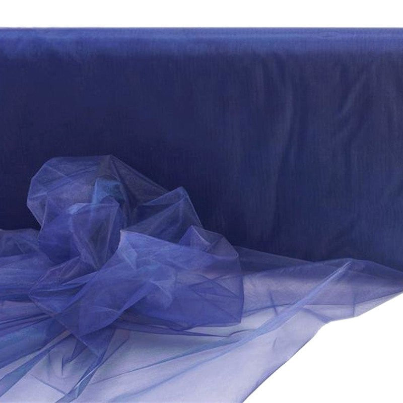 "54""x40yds Organza Fabric Navy Blue"