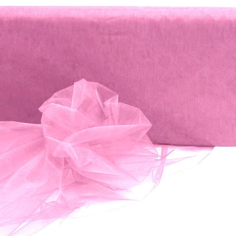 "54""x40yds Crystal Organza Fabric Pink"