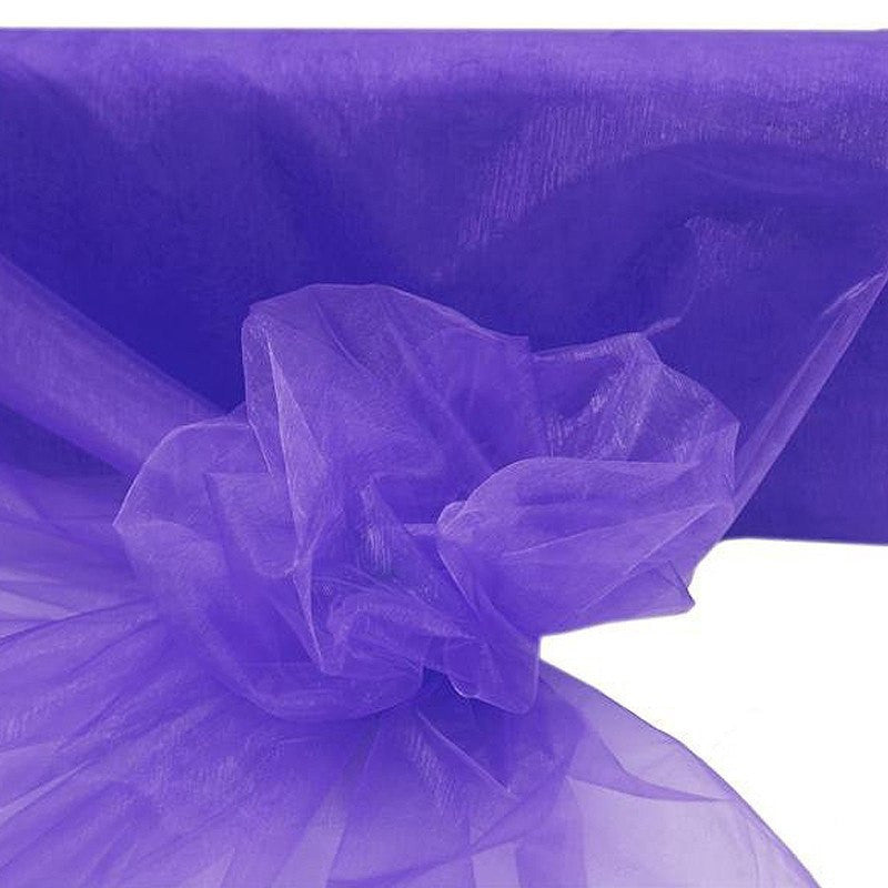 "54""x40yds Crystal Organza Fabric Purple"