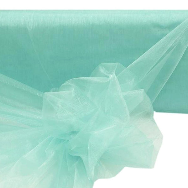 "54"" x 40 Yards Turquoise Sheer Organza Fabric Bolt"