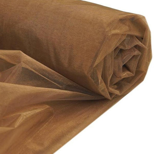 "Organza wrap 54""x10yds-Chocolate"