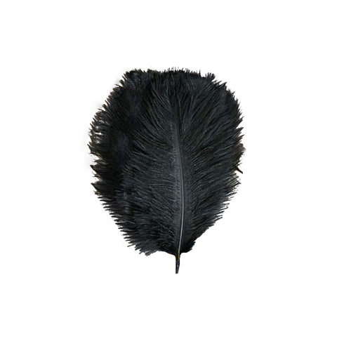 "Pack of 12 - 13""-15"" Black Natural Plume Ostrich Feathers Centerpiece"