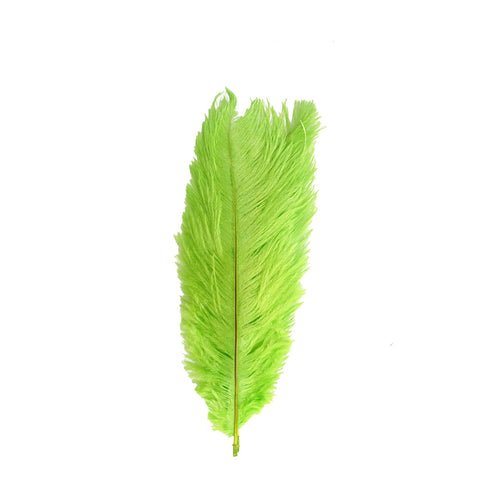 "Pack of 12 - 13""-15"" Green Natural Plume Ostrich Feathers Centerpiece"