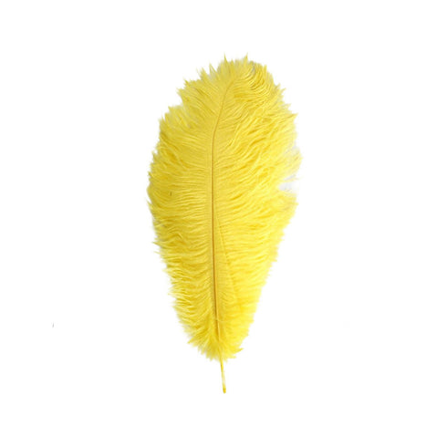 "12 Pack | 13""-15"" Yellow Natural Plume Ostrich Feathers Centerpiece"