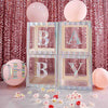 "4 Pack - 5"" Iridescent Alphabet Stickers Banner, Customizable Stick on Letters - E"