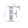 "4 Pack - 5"" Iridescent Alphabet Stickers Banner, Customizable Stick on Letters - F"
