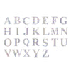 "4 Pack - 5"" Iridescent Alphabet Stickers Banner, Customizable Stick on Letters - H"