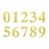"4 Pack - 5"" Metallic Gold Number Stickers Banner, Customizable Stick on Gold Numbers - 0"