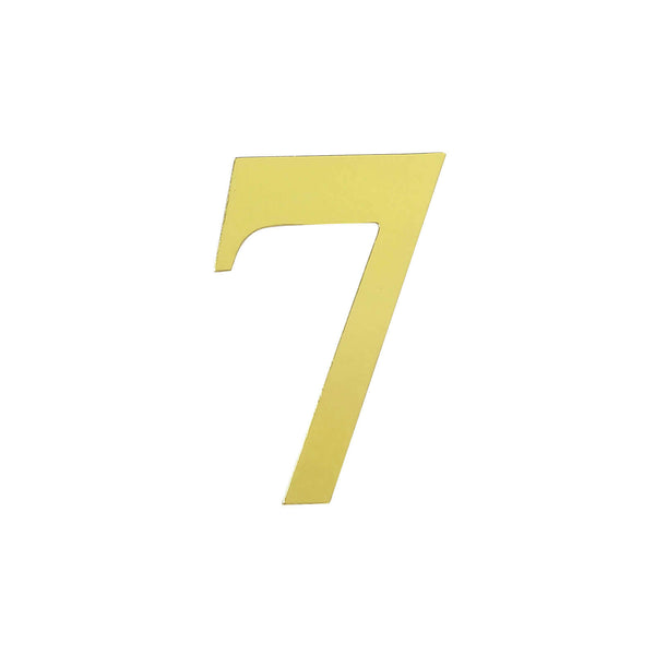 "4 Pack - 5"" Metallic Gold Number Stickers Banner, Customizable Stick on Gold Numbers - 7"