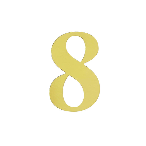 "4 Pack - 5"" Metallic Gold Number Stickers Banner, Customizable Stick on Gold Numbers - 8"