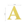 "4 Pack - 5"" Metallic Gold Alphabet Stickers Banner, Customizable Stick on Gold Letters - A"