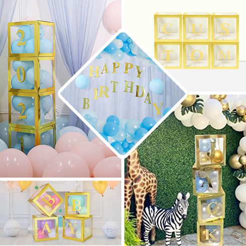"4 Pack - 5"" Metallic Gold Alphabet Stickers Banner/Garland Gold Letters - E"