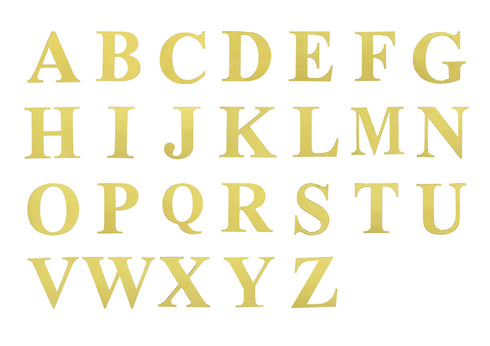4 Pack | 5 Inch | Gold Pre-punched Decorative Letters with Glue Dots - E | eFavormart