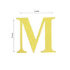 "4 Pack - 5"" Metallic Gold Alphabet Stickers Banner, Customizable Stick on Gold Letters - M"