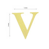 "4 Pack - 5"" Metallic Gold Alphabet Stickers Banner, Customizable Stick on Gold Letters - V"