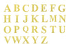 4 Pack | 5 Inch | Gold Pre-punched Decorative Letters with Glue Dots - W | eFavormart