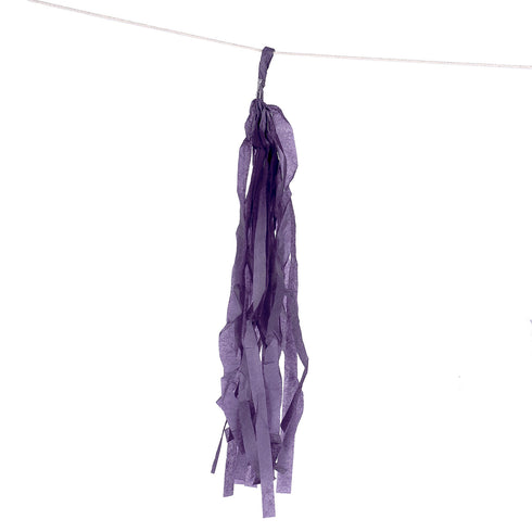 12 PCS Purple Tissue Paper Balloon Tassel Garlands