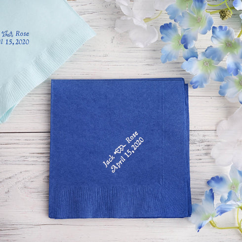 Personalized Beverage Napkin- 100 Count - Customize