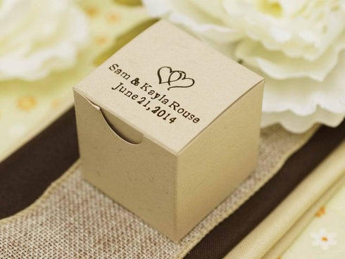 100 PCS Personalized Custom Printed Cake Box - 2x2x2