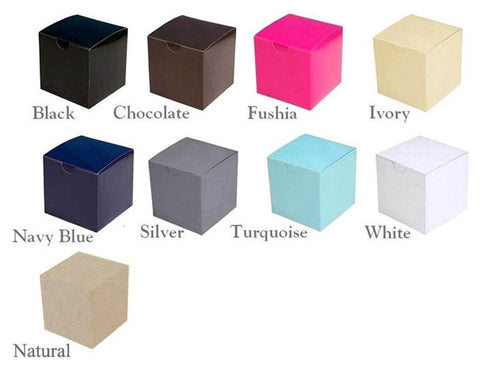 Personalized Large Diamond Letter Favor Box - 3x3x3 - 100pcs