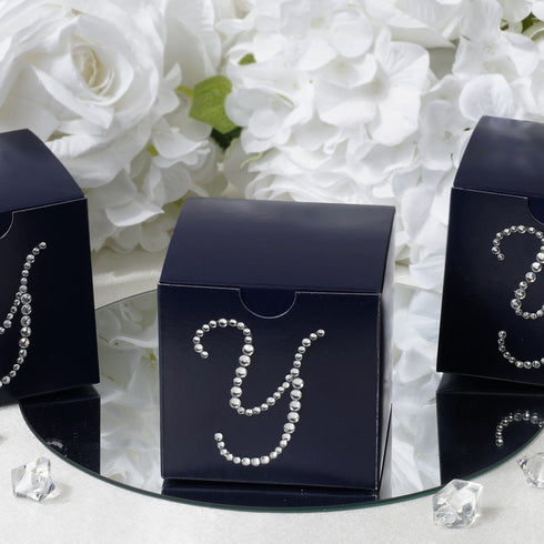 Personalized Large Diamond Letter Favor Box - 3x3x3 - 100pcs - Customize