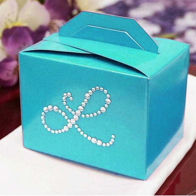 Personalized Diamond Letters Tote Favor Box - 100pcs - Customize