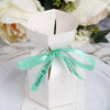 100 Pcs White Personalized French A la Mode Favor Boxes, Wedding Favors