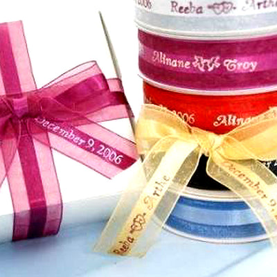 Personalized Organza Ribbons - 50 Counts