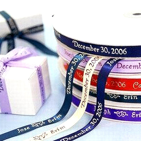 "25 Yards 3/8"" Continuous Personalized Ribbon"