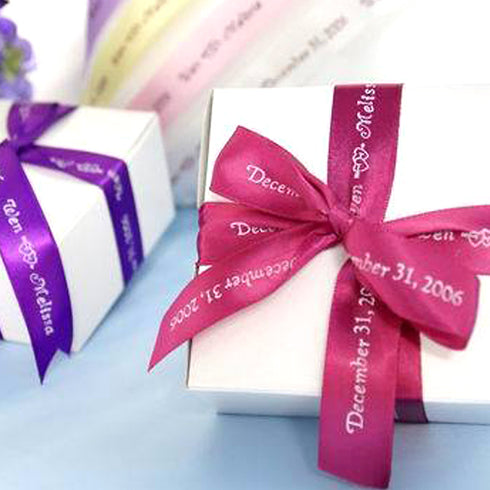Boxes with Personalized Ribbons