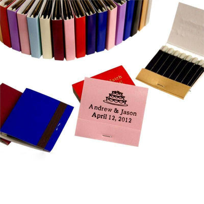 50 Pack Personalized Matchbook Wedding Favors With 30 Stem Matches