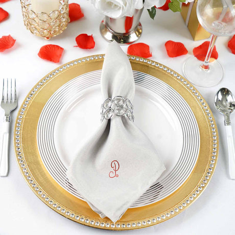 Napkins Kitchen, Dining & Bar Supplies 100 pcs 17x17 or 20x20 Polyester Cloth Linen Dinner Napkins w or w/o Rings