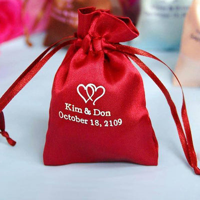3x4 Personalized Satin Drawstring Bags 100 Pack Efavormart