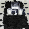 500 Black Silk Rose Petals For Table Confetti