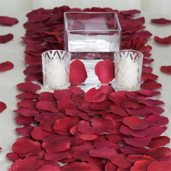 Decorating supplies wholesale supplies efavormart 500 silk rose petals for table confetti decoration burgundy junglespirit Choice Image